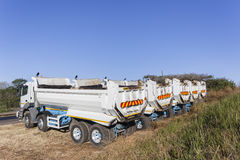 Trucks Asphalt Roads Stock Photo