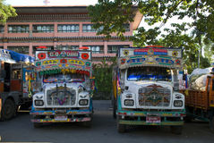 Trucks, Bhutan Stock Photo