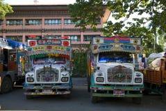 Trucks, Bhutan Stock Photo