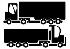 Trucks car icons isolated on white. Background Royalty Free Stock Image
