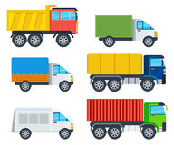 Trucks Cartoon Vector Models Collection Royalty Free Stock Photography