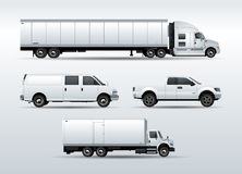 Trucks collection for transportation cargo vector Stock Images