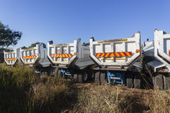 Trucks Construction Stock Photo