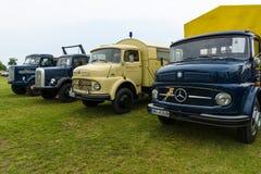 Trucks Daimler-Benz L323, Mercedes-Benz LA 710, Daimler-Benz LAF 311/36 and MAN 620 L1. Royalty Free Stock Images