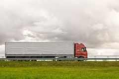 Trucks delivery cargoes Stock Photography