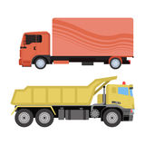 Trucks delivery vehicle vector. Royalty Free Stock Image