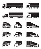 Trucks in different perspective view Royalty Free Stock Images
