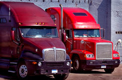 Trucks at Dock Stock Photography