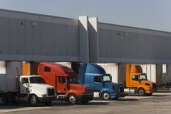 Trucks in docks Royalty Free Stock Image