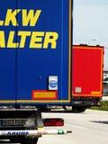 Trucks on docks stock image