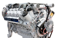 Trucks engine silver Royalty Free Stock Image