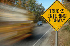 Trucks entering sign Royalty Free Stock Photo