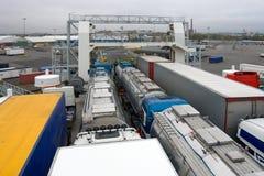 Trucks on ferry Stock Image