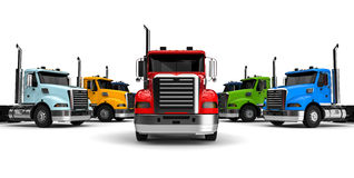 Trucks fleet concept Stock Photography