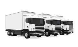 Trucks Fleet Isolated Stock Images