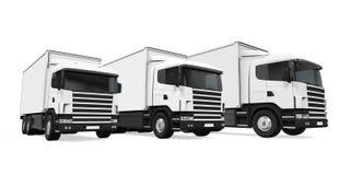 Trucks Fleet Isolated Royalty Free Stock Image