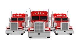 Trucks Fleet Isolated Stock Image