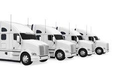 Trucks Fleet Isolated Royalty Free Stock Photography