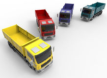 Trucks fleet positioning Royalty Free Stock Photo