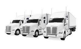 Trucks Fleet  Stock Photography