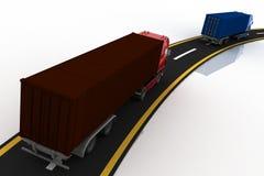 Trucks on freeway Royalty Free Stock Images
