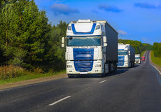 Trucks goes on the highway Royalty Free Stock Photography