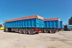 Trucks with grain Stock Photo