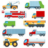 Trucks icon set Stock Photos