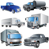 Trucks Ikon Set Royalty Free Stock Photos