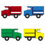 4 trucks Stock Image