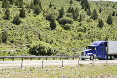 Trucks on interstate. Stock Photo