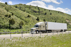 Trucks on interstate. Stock Image
