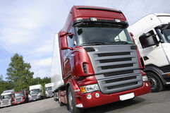 Trucks latest state of the art Stock Image
