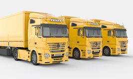 Trucks on a light background Stock Images