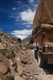 Trucks on mountain road Royalty Free Stock Image
