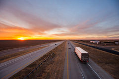 Trucks on the open road Royalty Free Stock Photo