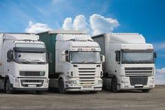 Trucks on parking Stock Photos