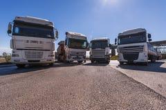 Trucks on Parking Stock Image