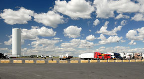 Trucks' parking lot royalty free stock images