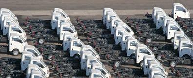 Trucks on Pier Royalty Free Stock Image