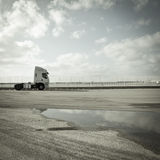 Trucks at the port Royalty Free Stock Photo