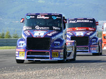 Trucks races Stock Image
