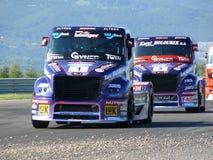 Trucks races Stock Image