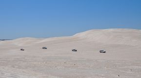 Trucks Racing on the Lancelin Dunes: Western Australia Stock Photos