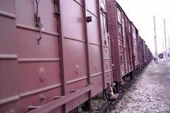 Trucks on railroad Royalty Free Stock Photography