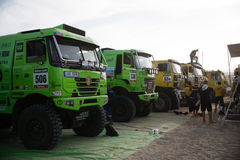 Trucks at the Rally Dakar 2013 Stock Image
