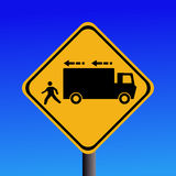 Trucks reversing sign Stock Photo