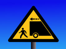 Trucks reversing sign Royalty Free Stock Image
