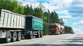 Trucks on the road Royalty Free Stock Image