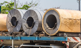Trucks rolled steel Stock Photography